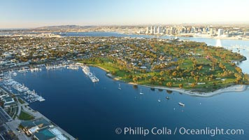 Coronado Island and Glorietta Bay, part of San Diego Bay
