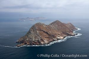 North Coronado Island, aerial photo, viewed from the north, Coronado Islands (Islas Coronado)