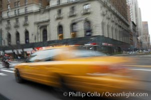 Crazy taxi ride through the streets of New York City. Manhattan, New York City, New York, USA, natural history stock photograph, photo id 11186