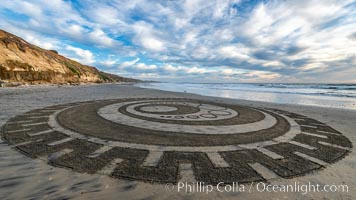 Crop Circle on Terramar Beach, Carlsbad