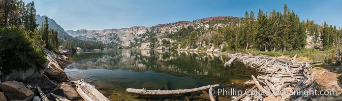 Panoramic Photo of Crystal Lake, Mammoth Lakes, Inyo National Forest