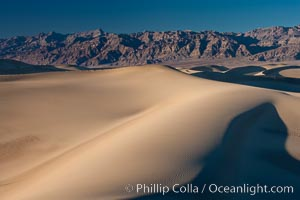 Sand Dunes, California.  Near Stovepipe Wells lies a region of sand dunes, some of them hundreds of feet tall. Death Valley National Park, USA, natural history stock photograph, photo id 15606