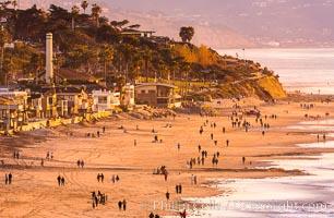 Del Mar Beach at Sunset, northern San Diego County. California, USA, natural history stock photograph, photo id 35098