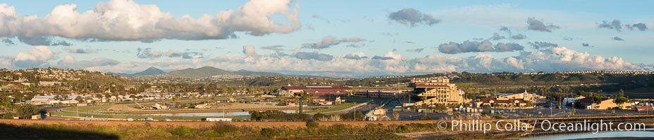Del Mar Racetrack and Fairgrounds, Panoramic Photo. California, USA, natural history stock photograph, photo id 30489