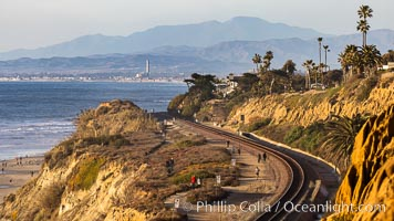 Del Mar Railroad Tracks and Coastline