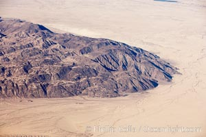 Desert, foothills and washes, west of the Salton Sea on the border of Anza-Borrego Desert State Park, aerial view