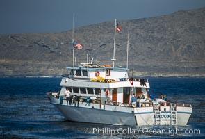 Dive boat Encore, San Clemente Island