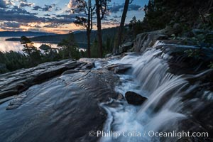 Eagle Falls at Sunrise, Lake Tahoe, California. Lake Tahoe, California, USA, natural history stock photograph, photo id 32325