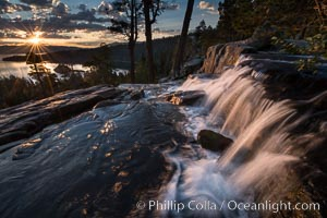 Eagle Falls at Sunrise, Lake Tahoe, California
