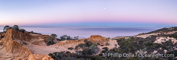 Earth Shadow over the Pacific, Torrey Pines, California, Torrey Pines State Reserve, San Diego