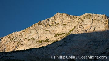 Eastern flank of Vogelsang Peak at sunrise, Yosemite National Park, California