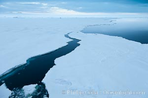 The edge of the fast ice along the shore, near Paulet Island