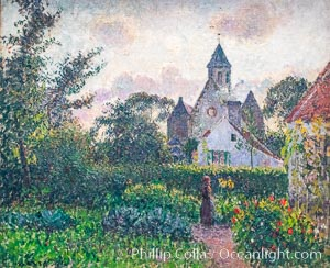 Image 35614, Eglise de Knokke, 1894, Camille Pissarro, Musee d'Orsay, Paris. Musee dOrsay, France, Phillip Colla, all rights reserved worldwide. Keywords: art, camille pissarro, france, musee, musee d orsay, museum, orsay, paris, pissarro.