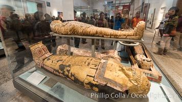 Egyptian mummies, British Museum, London, United Kingdom