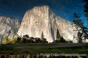 El Capitan reflected in Merced River, Yosemite National Park