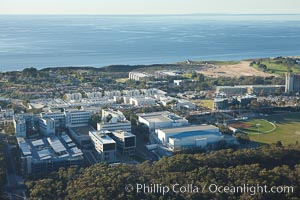 Eleanor Roosevelt College, at University of California San Diego, with the Pacific Ocean in the distance. La Jolla, USA, natural history stock photograph, photo id 22423