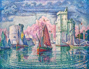 Entrance to the Port of La Rochelle, 1921, Paul Signac, Musee d'Orsay, Paris, Musee d'Orsay, Paris, Musee dOrsay