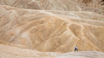 Eroded hillsides near Zabriskie Point and Gower Wash. Death Valley National Park, California, USA, natural history stock photograph, photo id 25255
