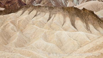 Eroded hillsides near Zabriskie Point and Gower Wash. Zabriskie Point, Death Valley National Park, California, USA, natural history stock photograph, photo id 25297