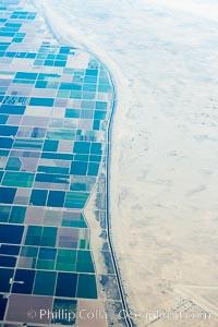 Farms meet desert south of the Salton Sea, near Brawley