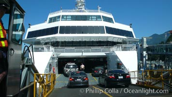 Ferry to Vancouver Island, cars loading at Horseshoe Bay