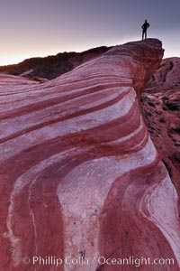The Fire Wave, a beautiful sandstone formation exhibiting dramatic striations, striped layers in the geologic historical record, Valley of Fire State Park