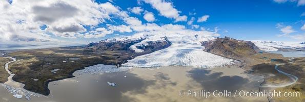 Fjalls�rl�n glacial lagoon in Iceland