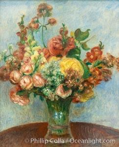 """Fleurs dans un vase, Pierre-Auguste Renoire, Musee de l""""Orangerie, Musee de lOrangerie, Paris, France"""