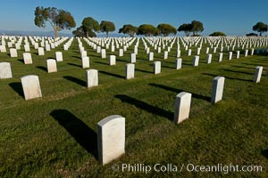 Fort Rosecrans National Cemetery. San Diego, California, USA, natural history stock photograph, photo id 26578