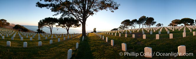 Fort Rosecrans National Cemetery. San Diego, California, USA, natural history stock photograph, photo id 26588