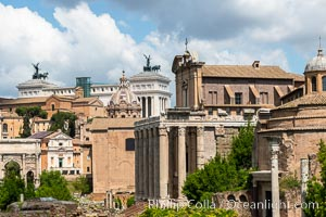 Forum viewed down the Via Sacra, Rome