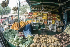 Fruit and vegetable vendor, Luxor, Egypt