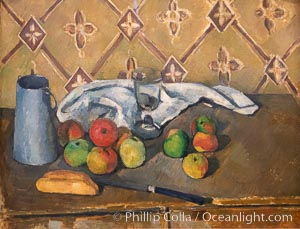"Fruits, serviette et boite a lait by Paul Cezanne, Musee de l""Orangerie, Musee de lOrangerie, Paris, France"