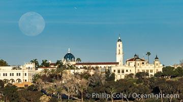 Full Moon Rising over University of San Diego