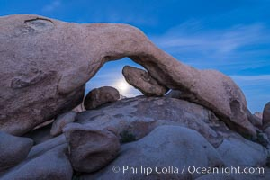 Full Moon Rising under Arch Rock, Joshua Tree National Park