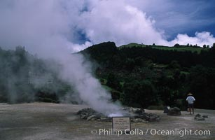 Fumeroles / steam vents / hot springs, Sao Miguel Island