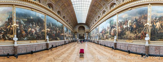 Gallery in Chateau de Versailles, Paris. France, natural history stock photograph, photo id 35622