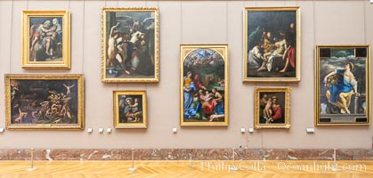 Gallery in the Mus�e du Louvre, Paris, Musee du Louvre