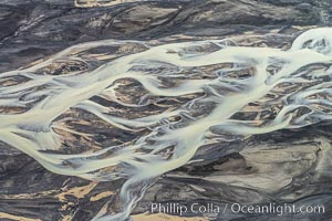 Glacial river, highlands of Southern Iceland., natural history stock photograph, photo id 35747