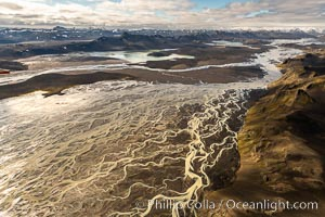 Glacial river, highlands of Southern Iceland., natural history stock photograph, photo id 35778