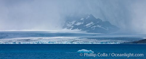 Glacier and iceberg, Cumberland Bay, near Grytviken