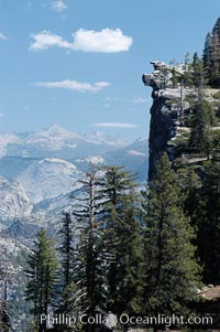 Glacier Point cliffs viewed from Four Mile Trail. Yosemite National Park, California, USA, natural history stock photograph, photo id 07663