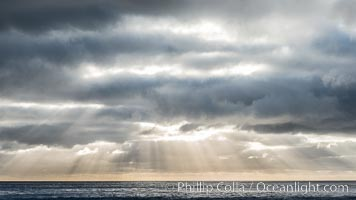 God Beams at Sunset, Guadalupe Island, Guadalupe Island (Isla Guadalupe)