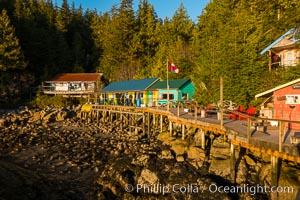 God's Pocket Resort, Hurst Island, God's Pocket Provincial Park, Vancouver Island, British Columbia, Canada. British Columbia, Canada, natural history stock photograph, photo id 34495