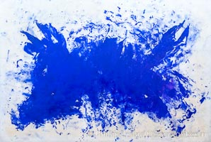 Grande Anthropophagie bleue, Hommage � Tennessee Williams, Yves Klein, 1960, Le Centre Pompidou. Paris, Musee National dArt Moderne