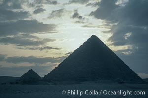 Great pyramids. Giza, Egypt, natural history stock photograph, photo id 02571