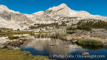 Greenstone Lake and North Peak, Hoover Wilderness, 20 Lakes Basin