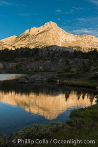 Greenstone Lake and North Peak, Hoover Wilderness, Sunrise, 20 Lakes Basin