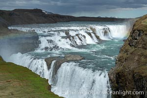 Gullfoss waterfall in Iceland., natural history stock photograph, photo id 35805