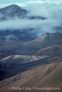 Haleakala volcano crater. Maui, Hawaii, USA, natural history stock photograph, photo id 05598